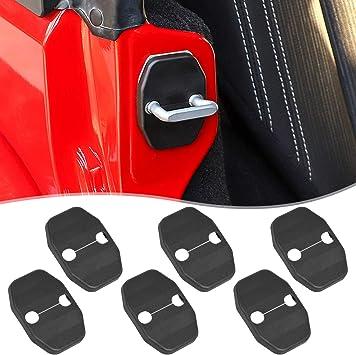 Black 6PCS 2019 RAM Chrysler200//200C//300C Grand Cherokee E-cowlboy Door Lock Covers Protection Trim for Jeep Wrangler JK JKU 2007-2019 Grand Voager Dodge Jcuy//Joureny Caliber