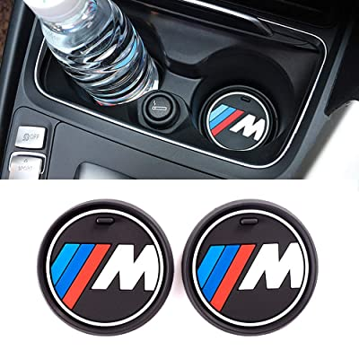 SNA M Performance Accessories Cup Holder Insert Coaster Fit for BMW (2-PC Set, 2.9 inch): Automotive