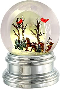 Kurt S. Adler J3650 100mm Light-Up Horse and Carriage Water Globe Table Piece Decoration