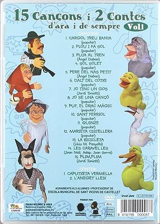 15 Cançons I 2 Contes De Sempre - Volume 1 [DVD]: Amazon.es ...