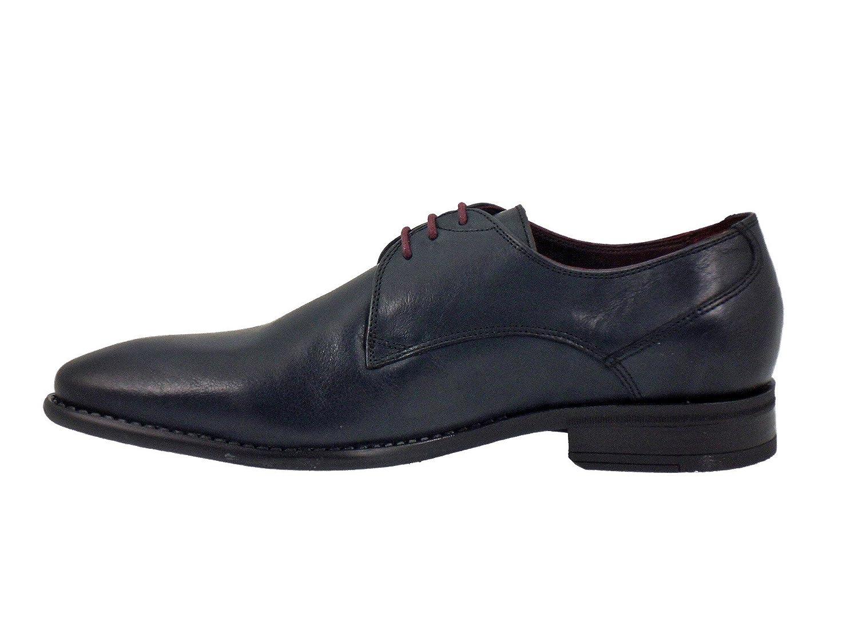 Fluchos Zapatos de Cordones Para Hombre, Azul (Azul Marino), 39