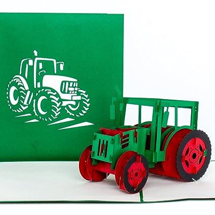 3d Pop Up Kartetraktor Trecker Treckerkarte Traktorkarte 3d Geburtstagskarte Einladungskarte Gutschein Geschenkgutschein Als Deko