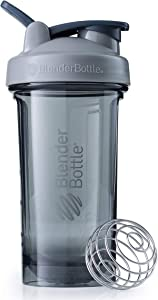 BlenderBottle Pro Series Shaker Bottle, 24-Ounce, Pebble Grey