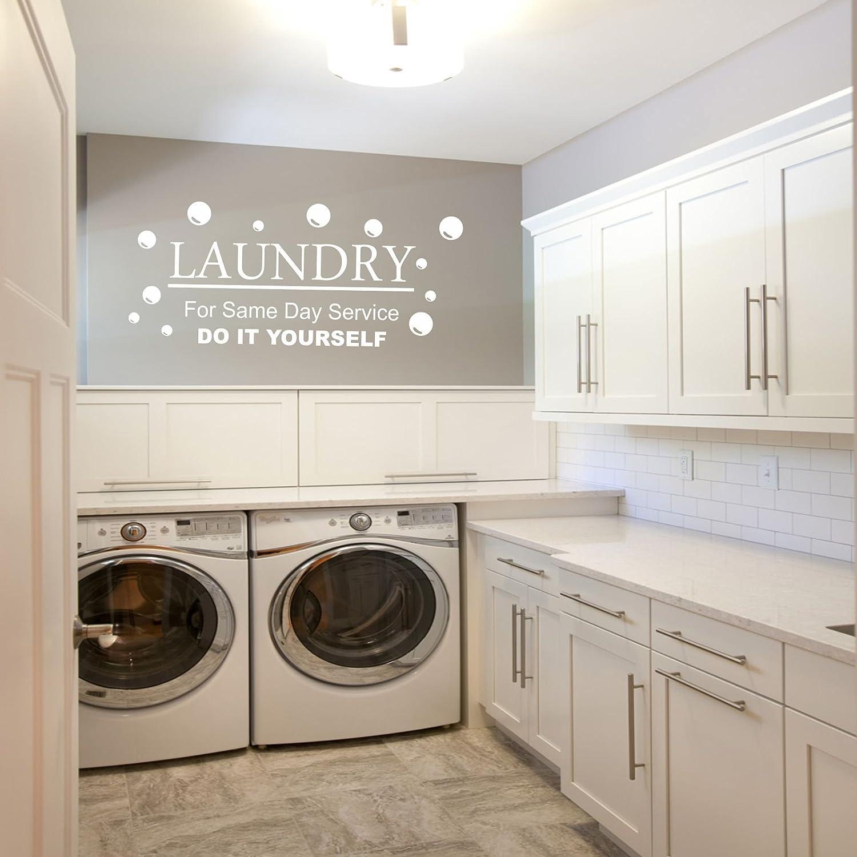 Laundry Kitchen Utillity Room Fun Decal Wall Art Diy Laundry Sticker Amazon Co Uk Kitchen Home