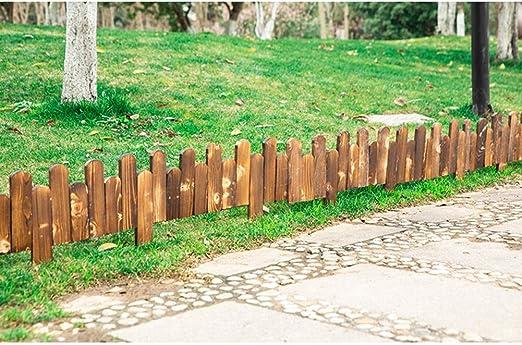 ZHANWEI Valla de jardín Bordura de jardín Paisaje Madera Anticorrosiva Cama De Flores Al Aire Libre Patio Césped Árbol Fronteras Decoración, 3 Tamaños (Color : 5pcs, Size : 100x15/20cm): Amazon.es: Jardín