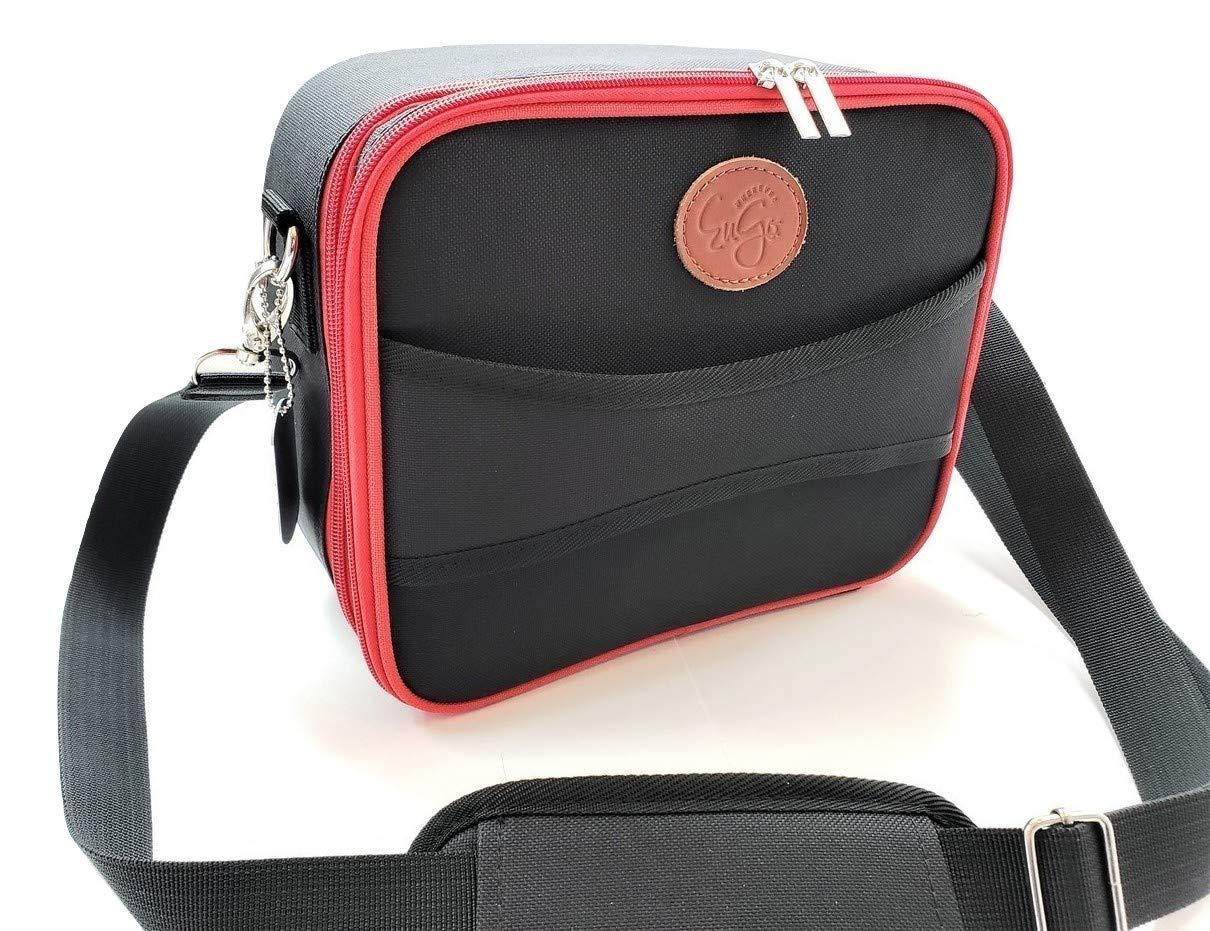 Wherever EuGo Diabetes Supplies Travel Bag and Organizer - Classic Black & Red (Large) by Wherever EuGo