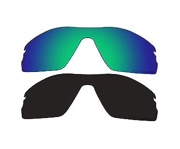 2 pares bvanq polarizadas lentes verde y negro de repuesto para Oakley Radar Pitch – Gafas