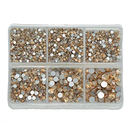 Queenme Upgrade 4200 Pieces Nail Crystals Flatback Nail Art Rhinestones  Round cd139a754952
