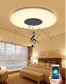 NatsenR LED Deckenlampe 36W Beleuchtung Smart Modern Deckenleuchte Warmweiss Und RGB Dimmbar Bluetooth Wandlampe X817