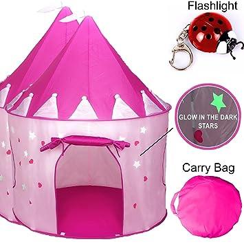 TentTrix Kids Play Tent - Indoor / Outdoor Princess Castle Tent - GLOW IN THE DARK  sc 1 st  Amazon.com & Amazon.com: TentTrix Kids Play Tent - Indoor / Outdoor Princess ...