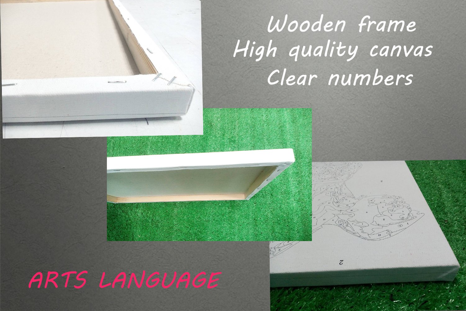 Arts Language Wooden Framed 16'' x 20'' Paint by Numbers Diy Painting Heavy metals