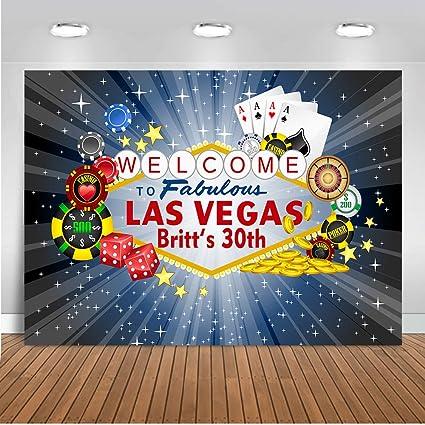 Mehofoto Las Vegas Fondo de Fiesta 8 x 6 pies Welcome to ...