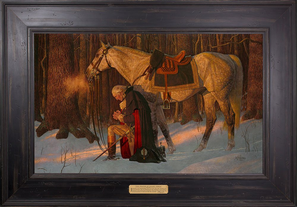 Arnold Friberg - The Prayer At Valley Forge - Gallery Quality Framed Art - Textured Lithograph Edition 25x35 - George Washington