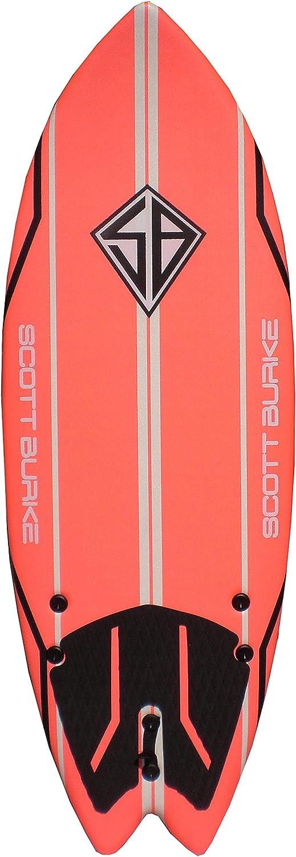 Scott Burke 5 2 Fish Soft Surfboard, Coral