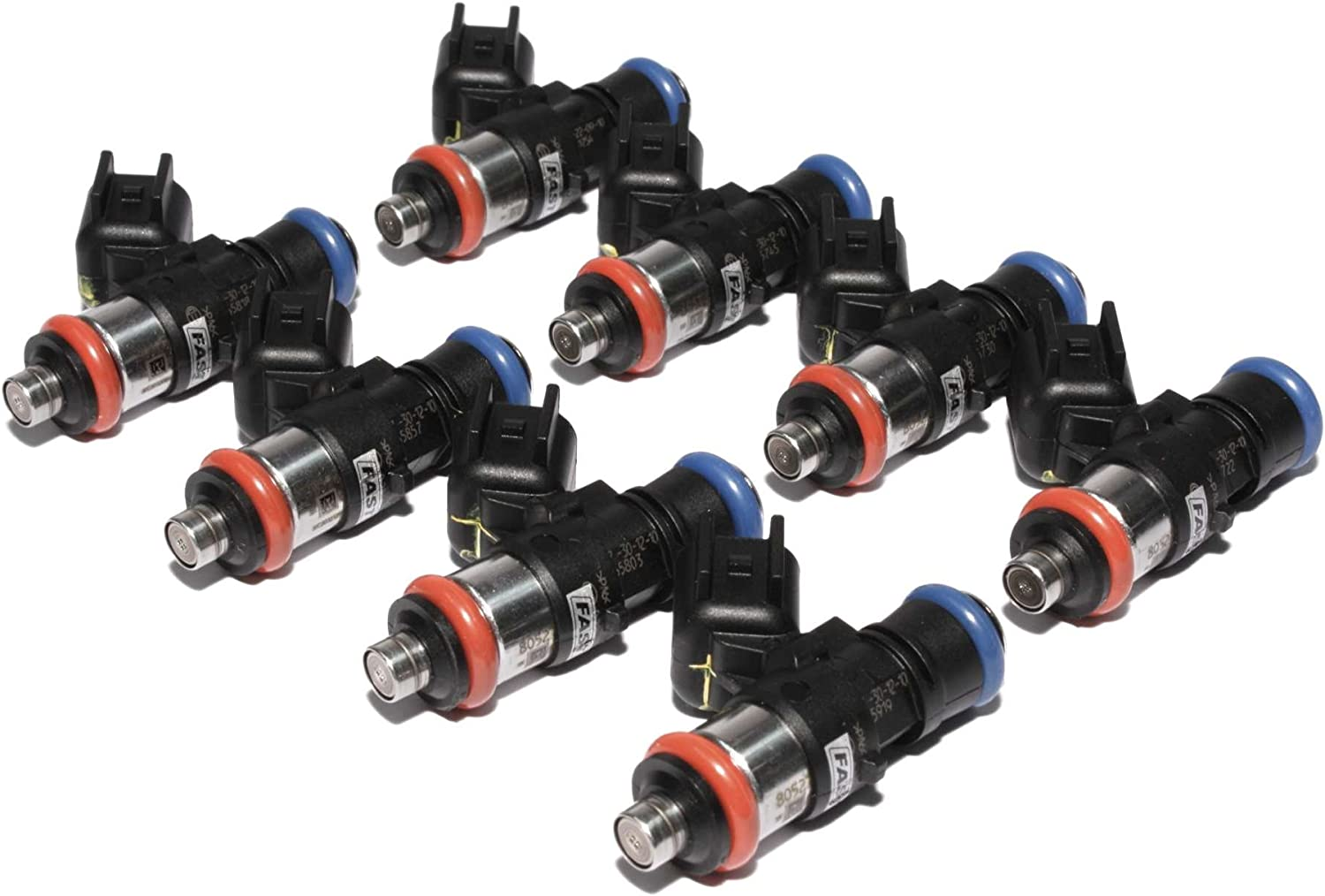 FAST 30859-8 Precision-Flow 87.8 lb//hr 960.8cc//min High-Impedance Fuel Injector for LS2, Set of 8