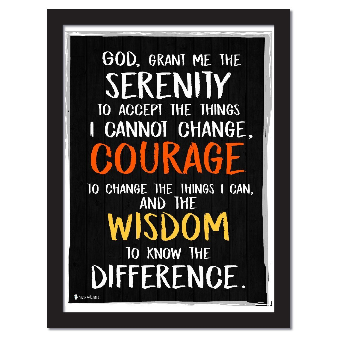 Amazon.com: Young And Refined Serenity Prayer Extra Large Wall Art Perfect  for Decorating Kitchens Homes bathrooms bedrooms hallways (24x30): Posters  u0026 ...
