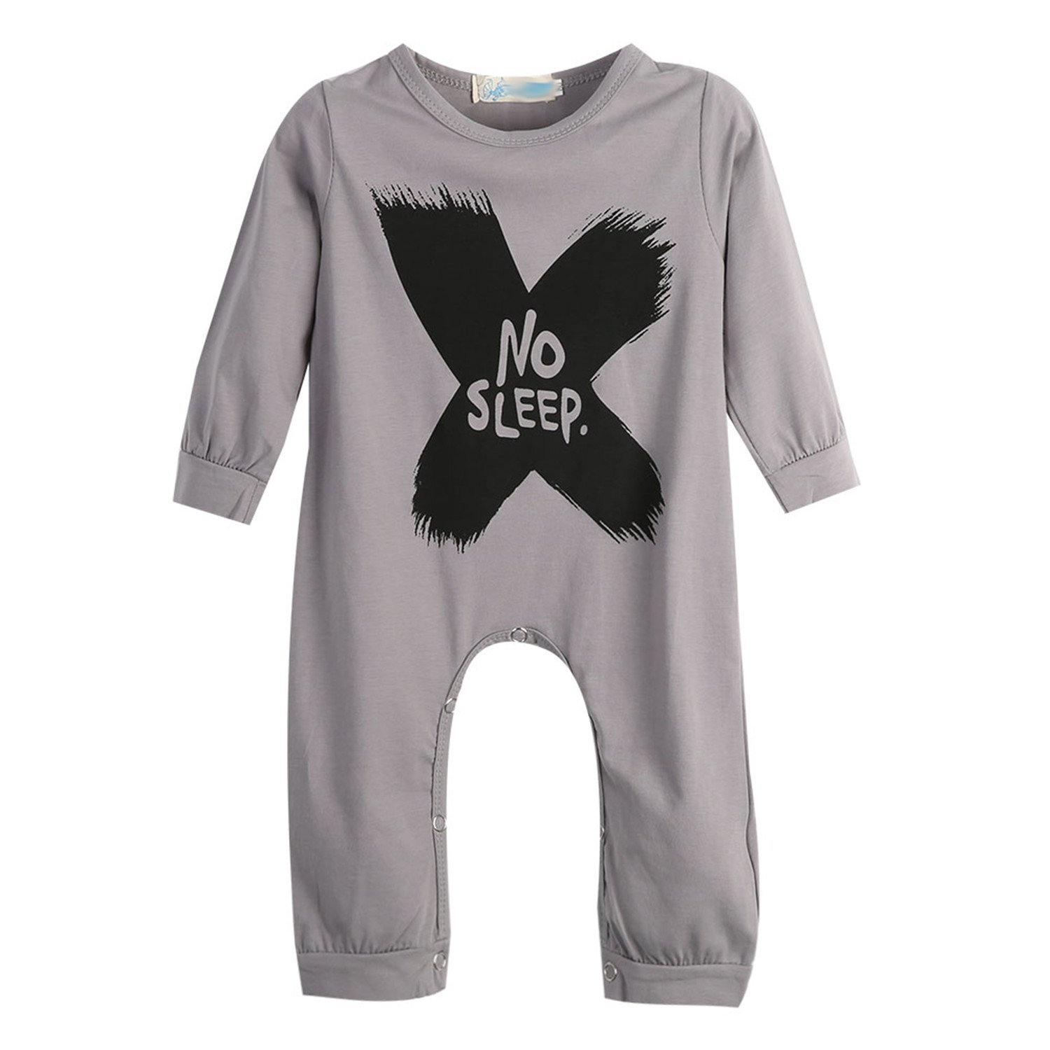 Susan1999 New Baby Girls Boys Long Sleeve Romper Jumpsuit One-Pieces No Sleep To The Moon