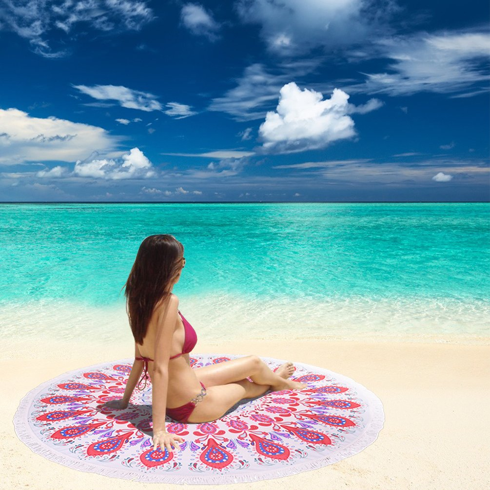 Beautiful round beach towel