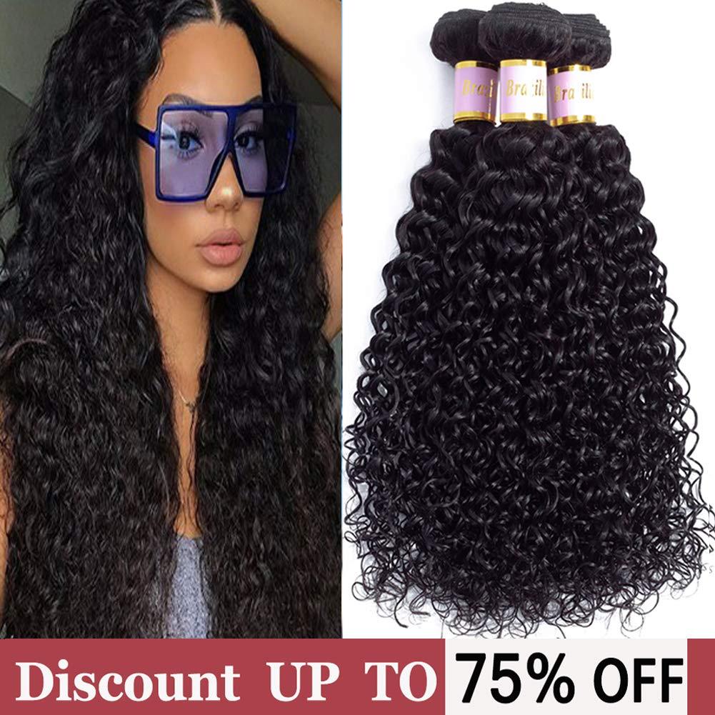 234bcd313499 Brazilian Curly Hair 3 Bundles Virgin Kinky Curly Human Hair Weave (12 14  16inch)