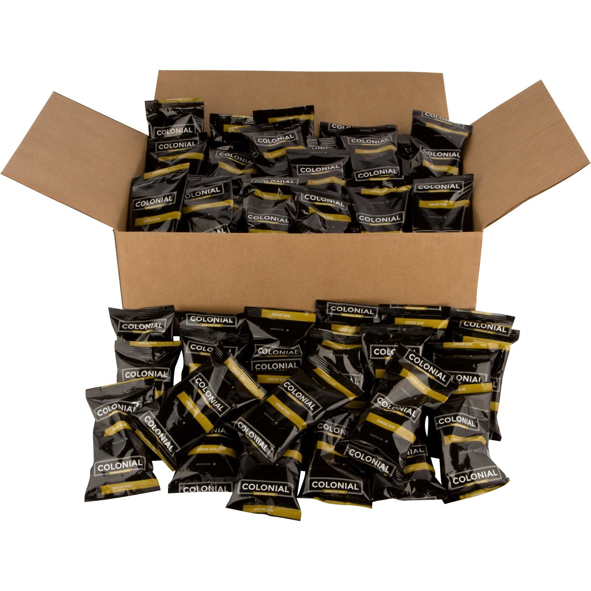 Signature 'Breakfast' Blend' Pre-Measured 2.5 OZ Ground Coffee Fraction Packs, 100 Pouches/box, Medium Roast, For Drip Coffee Makers
