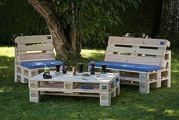 PALma Meubles palette Salon de jardin de qualité (avec pieds ...