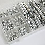 CSLU-Tool 200 Pcs Assorted Box of Small Metal Loose Steel Coil Springs Assortment Kit