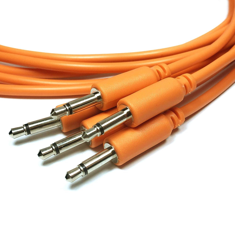 15//30//60//90//150cm Eurorack Modular Cables de Patch mono minijack de 3,5 mm 30cm, Morado Paquete de 5