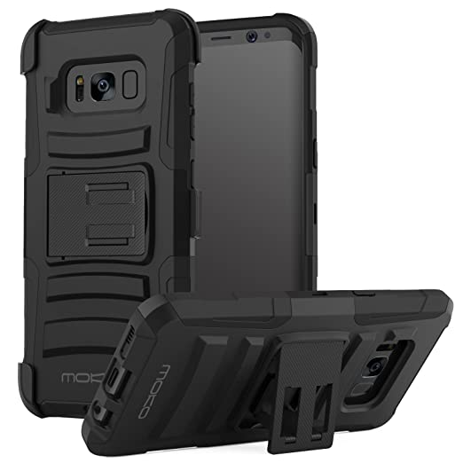 4 opinioni per MoKo Samsung Galaxy S8 Plus Case- Cover Holster con Supporto Integrato di