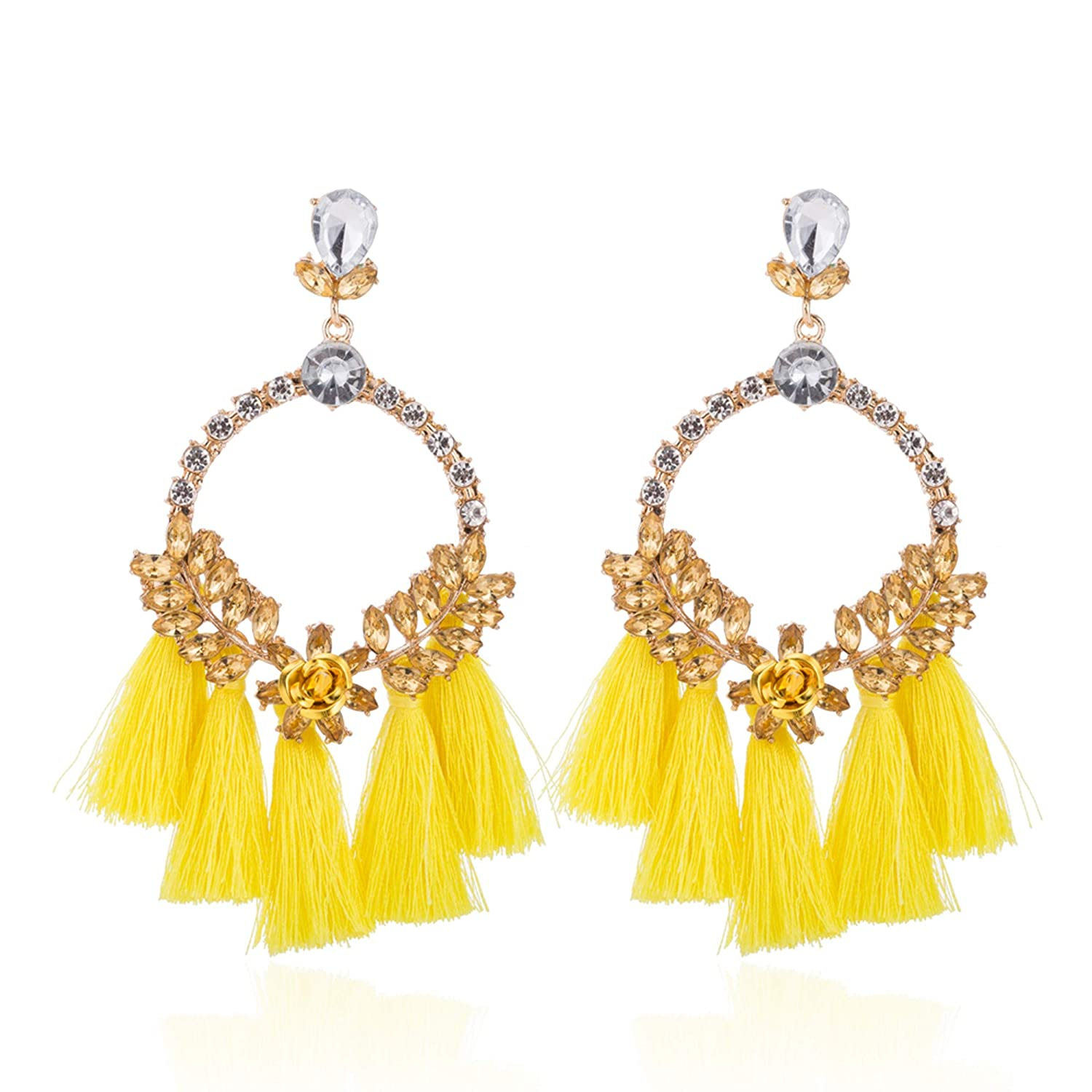 national style fashion earrings alloy inlaid drill new earrings FoxLegend Womans Hot-selling jewelry small flower round ear studs