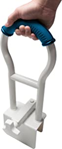 Pcp Bathtub Safety Rail with Sure-Grip, White/Blue, 19 inch