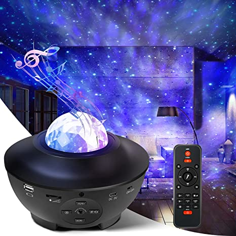 White Remote Rechargeable Star Projector for Bedroom Ceiling Adults,Starry Night Light Galaxy Projector for Room Party Kids Gift Cordless Projector LED Nebula Ocean Wave//Laser Light