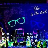 FAISHILAN 4 Pack UV LED Black Light, 24W Blacklight