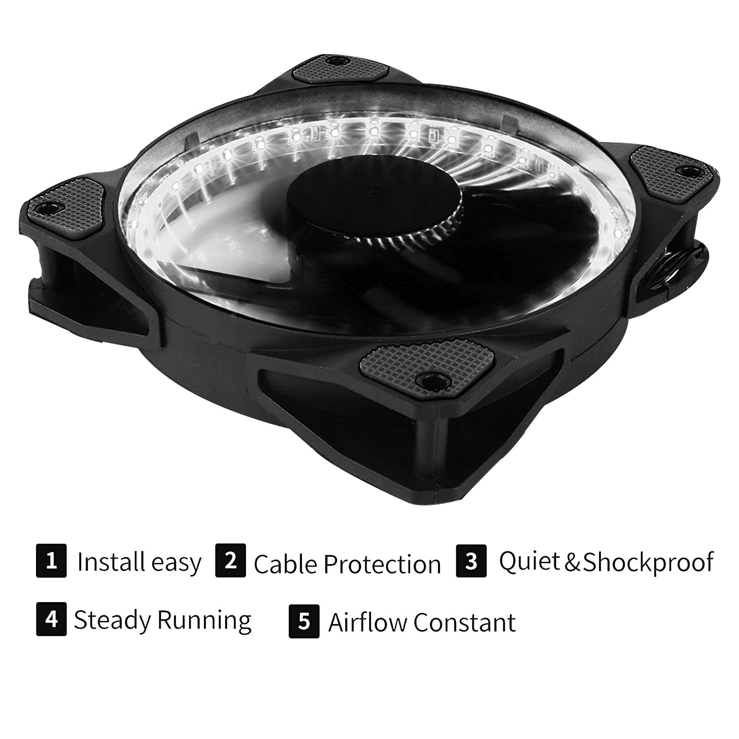 and Radiators Ultra Quiet High Airflow Computer Case Fan Twin Pack,32W4-2 CPU Coolers uphere 120mm White LED Silent Fan for Computer Cases