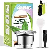 CAPMESSO Cápsula de café reutilizables, Cápsula rellenables para espresso, Cápsula de acero inoxidable compatibles con…