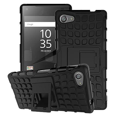 MoKo Funda para Sony Xperia Z5 Compact 2015 - Heavy Duty Rugged Dual Layer Armor with Kickstand Protective Cover for Sony Xperia Z5 Compact 4.6 Inch ...