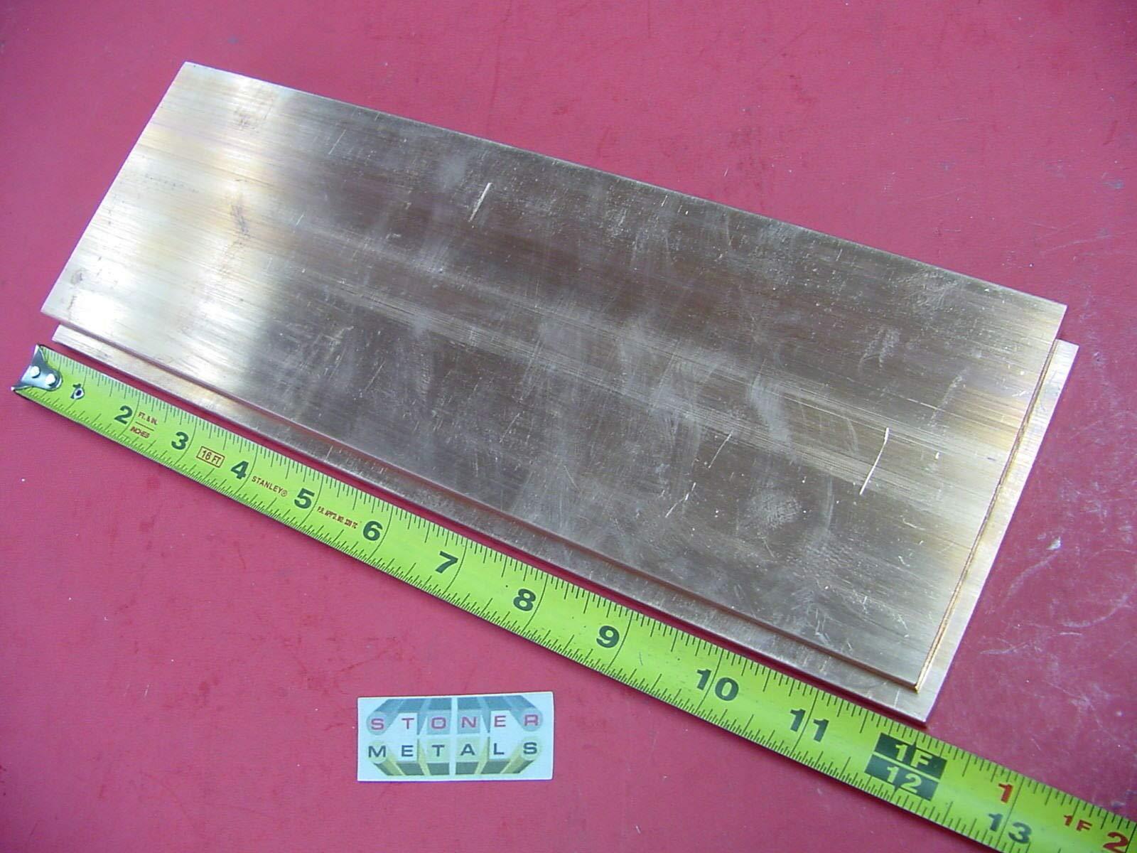2 Pieces 1/4''x 4'' C110 COPPER BAR 12'' long Solid Flat Bar .25x 4 Bus Bar Stock by Tan Home