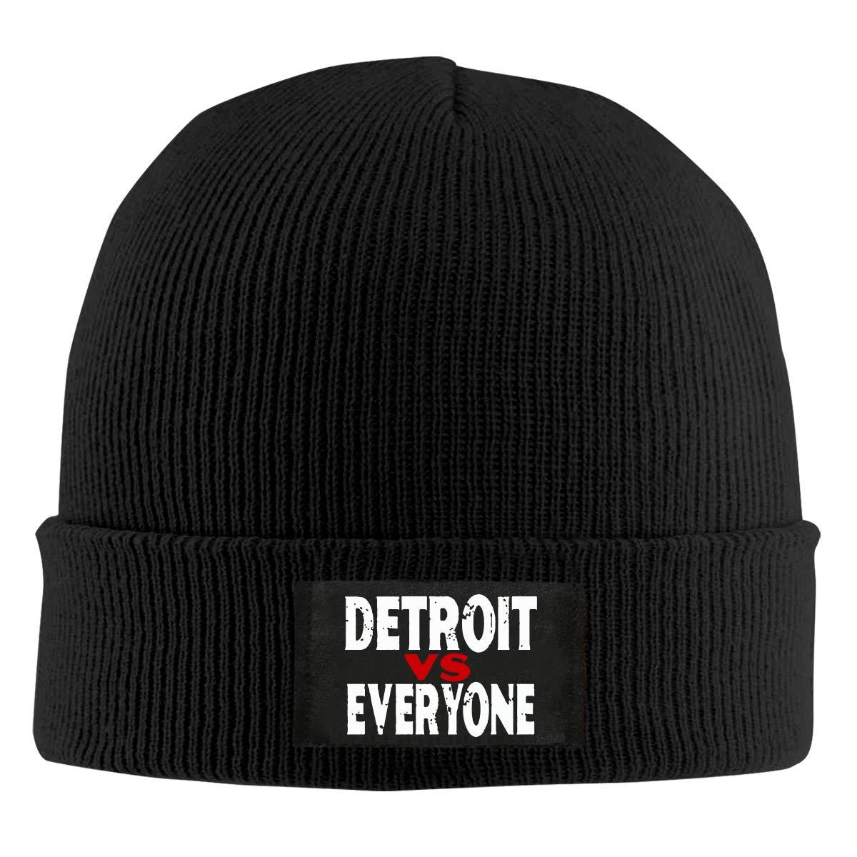 Detroit Vs Everyone Men /& Womens Knitted Hat Fashion Warm Beanie Cap