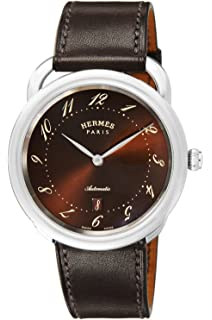 amazon com hermes watch cape cod automatic winding alligator hermes watch aruso brown dial automatic winding date ar7 710 435 vbe men