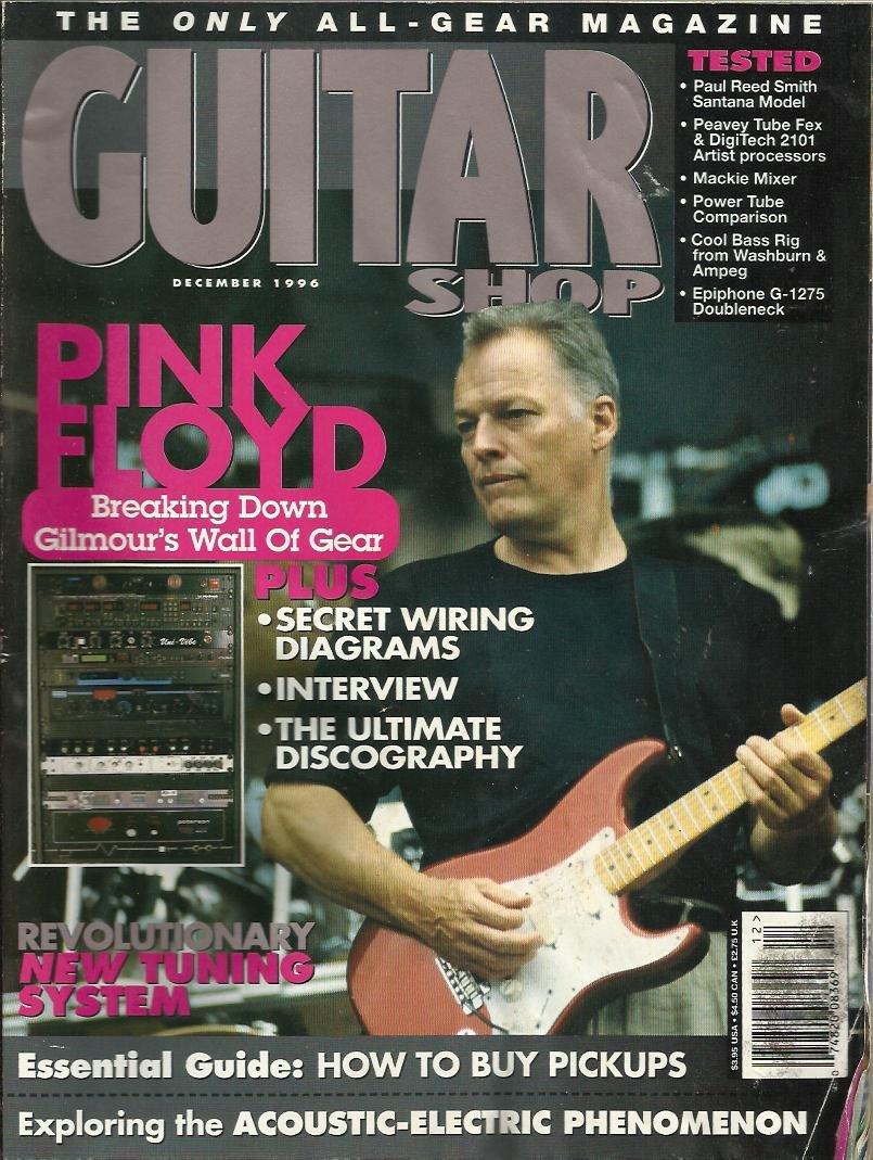 Guitar Shop Magazine December 1996 Pink Floyd David Gilmour Paul Reed Smith Wiring Diagrams Santana Model Epiphone G 1275 Doubleneck Books