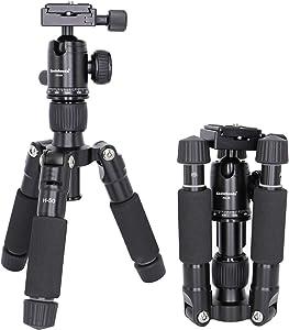 Koolehaoda Travel Portable H-50 Mini Tripod Compact Desktop Macro Mini Tripod with Ball Head for DSLR Camera Canon Nikon (H-50)
