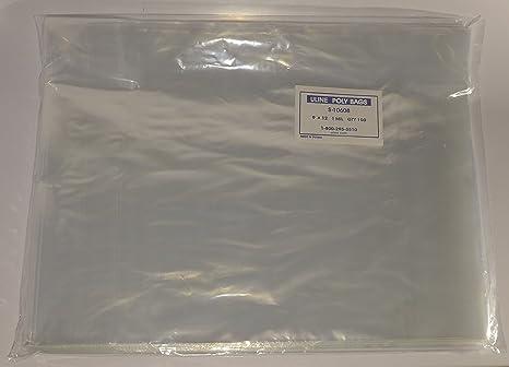 Amazon.com: Uline 100 - Bolsas de plástico transparente para ...