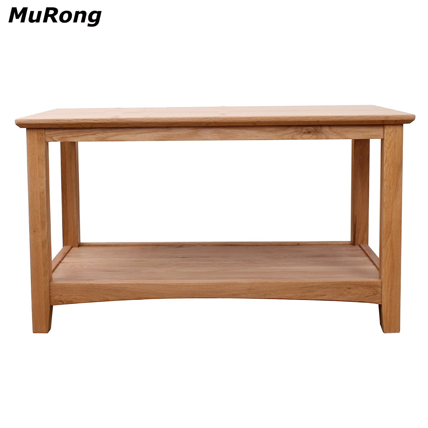 100% Solid oak Coffee Table with Storage Shelf NO VENEER NO MDF MURONG