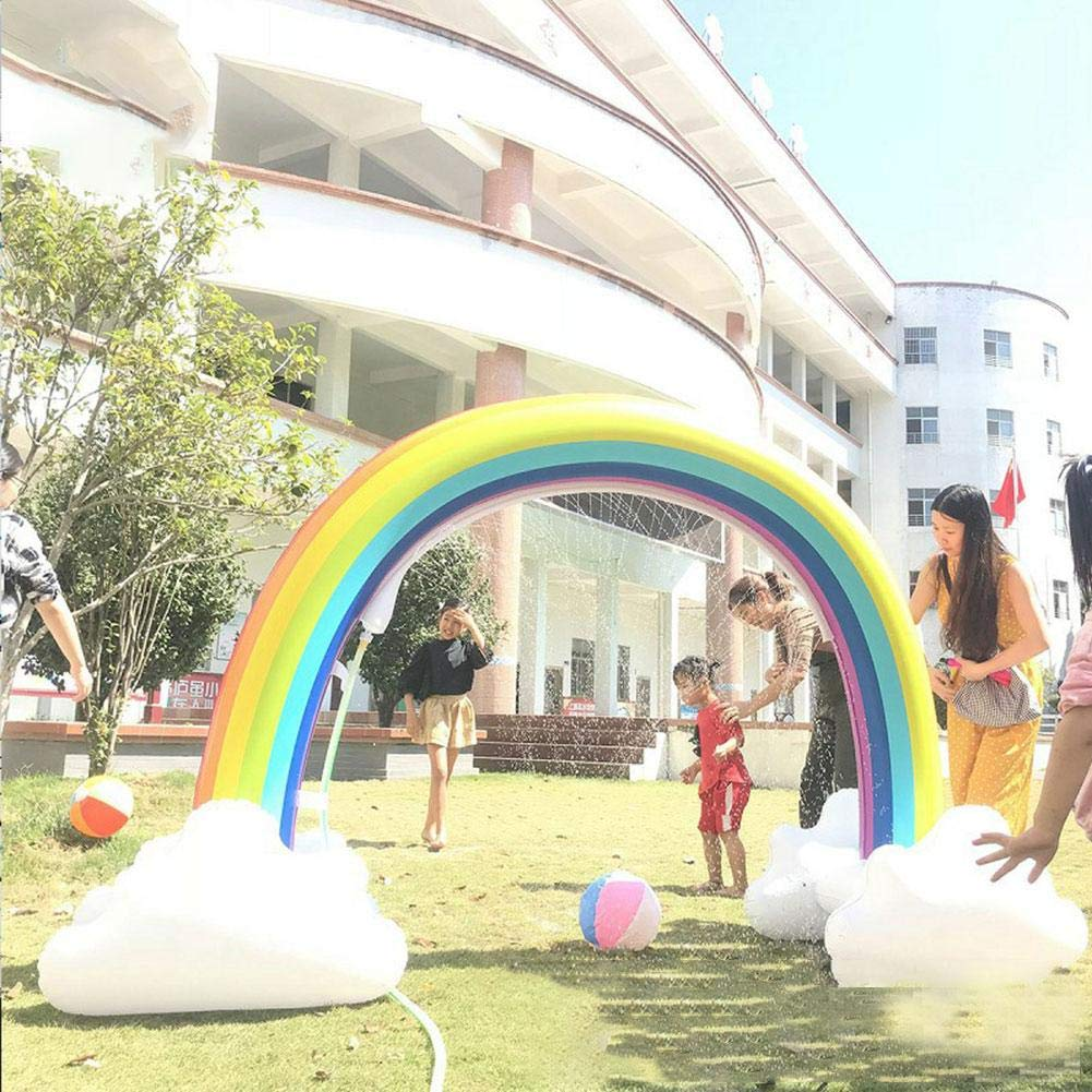 Highjump Inflatable Rainbow Yard Summer Sprinkler Toy, Children's Rainbow Portable Outdoor Water Play Sprinklers Toys,Perfect for Child Adult Baby Games Center by Highjump (Image #6)