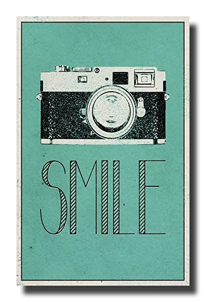 Amazon.com: Camera Smile Retro Vintage Hipster Decorative ...