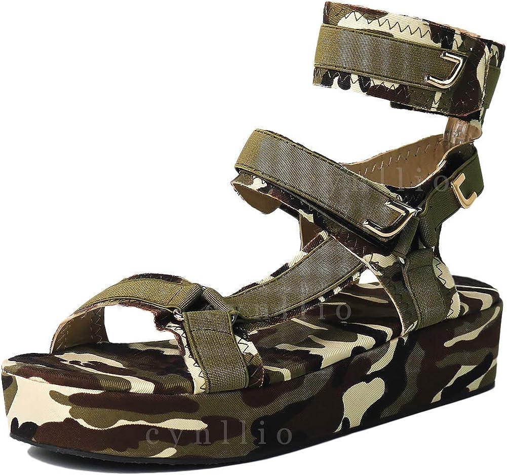 cynllio Colourful Platform Sandals