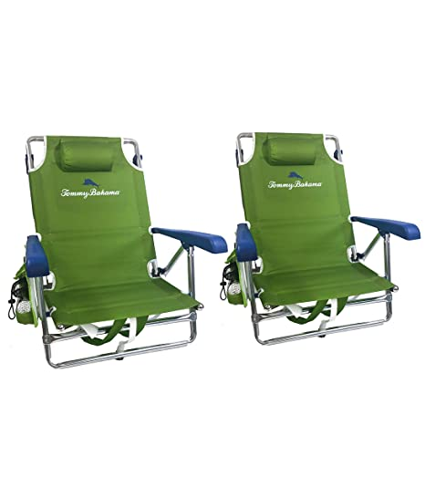 Awesome Tommy Bahama 2019 2 Backpack Beach Chairs With Storage Pouch And Towel Bar Alphanode Cool Chair Designs And Ideas Alphanodeonline