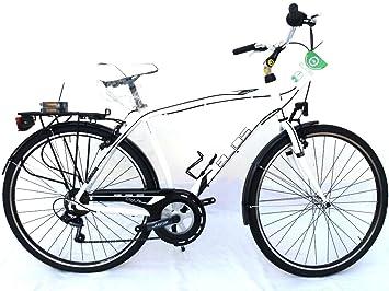 Bicicleta Elios City Life 28 Hombre 6 V Blanca: Amazon.es ...