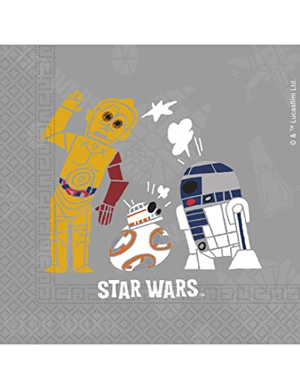 COOLMP - Lote de 6 servilletas de Papel Star Wars Forces 33 ...