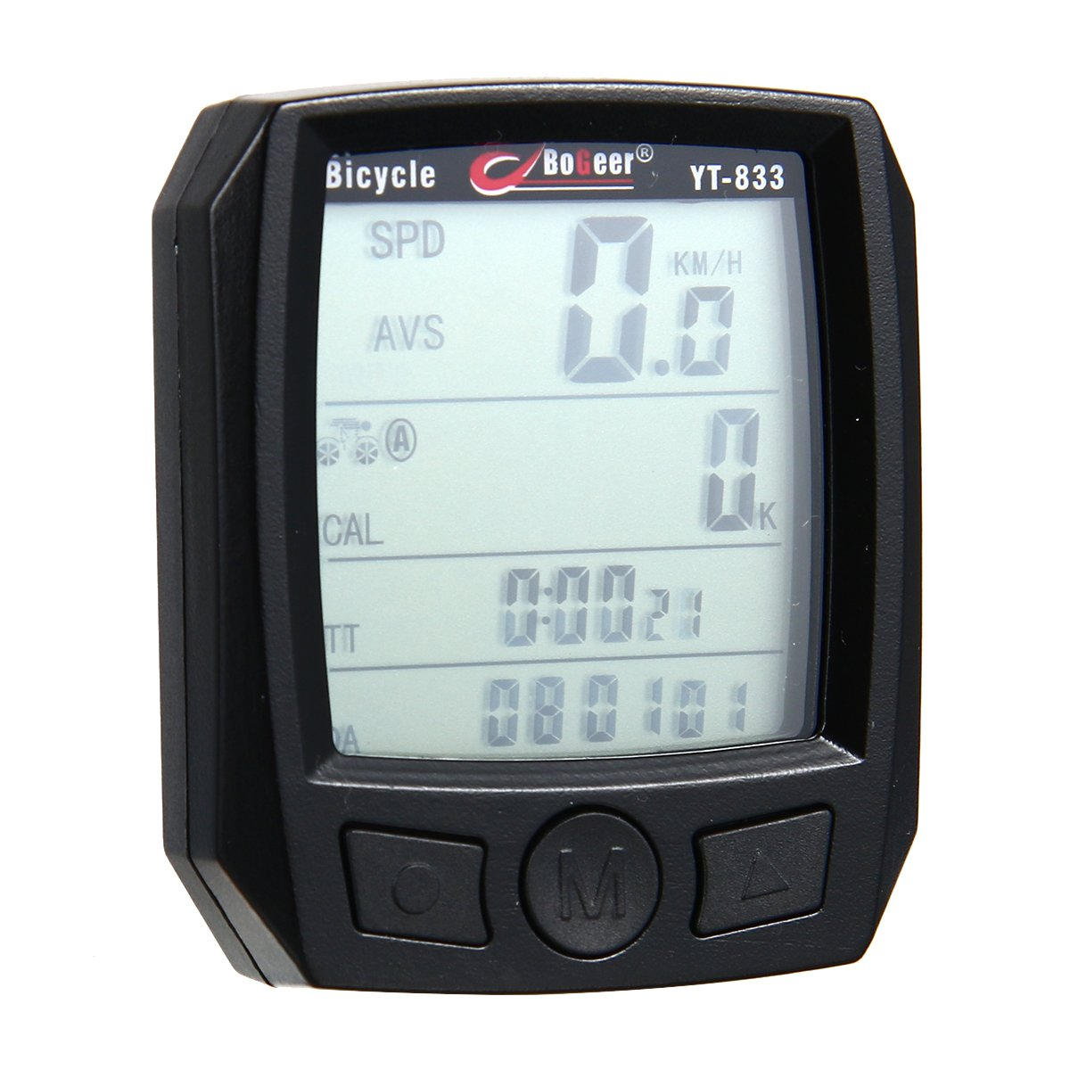 Xcellent Global Multi Function LCD Bicycle Cycling Computer Odometer Speedometer Stopwatch Waterproof NIGHT LIGHT Black M-FS020