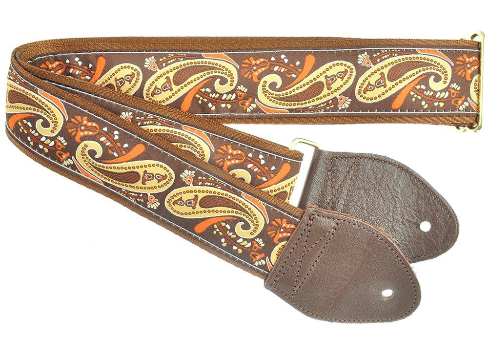 素敵な 【 並行輸入品 B00AHPIRQM】 Handmade Souldier (ソルジャー)】 Custom GS1116NM05WB Handmade Paisley ギターストラップ, Brown Gold B00AHPIRQM, P.E.F.ラバーマットShop:8984b18d --- martinemoeykens.com